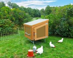 images about Do It Yourself on Pinterest   Mother Earth    motherearthnews com   quot Solar Backyard Chicken Coop Building Plans quot  A community of smaller portable chicken coops