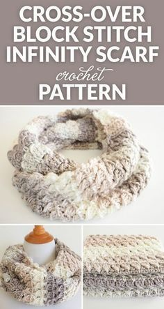 This Cross-Over Stitch Infinity Scarf is the perfect thing to keep you warm this winter. It also makes a perfect gift for a special someone this Christmas. häkeln Cross-Over Stitch Infinity Scarf Crochet Pattern - Dabbles & Babbles Knit Or Crochet, Crochet Gifts, Crochet Scarves, Crochet Shawl, Crochet Clothes, Diy Clothes, Crotchet, Chunky Crochet Scarf, Crochet Cape