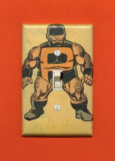 Puck. Quality-made vintage comic book lightswitch plate. He will look completely awesome on your wall.