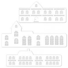 Výrez domčeky, 3 ks