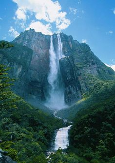 Angel Falls is the highest waterfall in the world - Canaima National Park, Venez. Angel Falls is the highest waterfall in the world - Canaima National Park, Venezuela Beautiful Waterfalls, Beautiful Landscapes, Famous Waterfalls, Places To Travel, Places To See, Travel Destinations, Travel Tourism, Usa Travel, Beautiful World