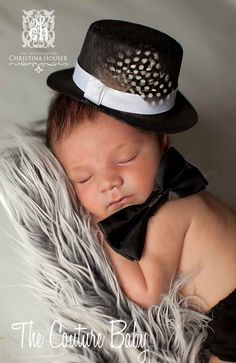 Little Man Top Hat And Bow Tie Set from The Couture Baby