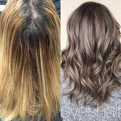 """Geysha Tomassone (@geyshaloveshair) ofthe Joseph Kenneth salon (@salonjosephkenneth) Marlton, NJ, says this client is a regular. """"She wanted something fun so we opted for silver/grey. By looking at her style, I felt that she could totally pull off that shade."""" With this type of color, Tomassone always explains that this is high maintence and needs to be pre-lightened to the palest blonde possible before toning. In this case, she had to pre-lighten twice. Formula: First round of lightener:"""