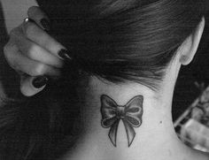 Bow tattoo - cuteness! WANT THIS IN SEPTTEMBER!!!!