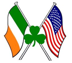 80463267861e2 I am Irish American! (Flags with Shamrock)