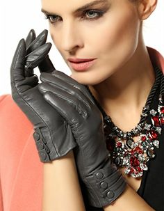Bestselling Women's Winter Warm Nappa Leather Gloves (Plush/cashmere Lining) (XX-Large ( Run small ), Grey (Traditional Long fleece lining, Non-touchscreen, Run small)) WARMEN http://smile.amazon.com/dp/B00PIKHO4W/ref=cm_sw_r_pi_dp_Y-Jxwb1F12R9P