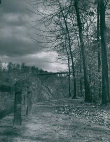 Old High Level Bridge, 1940s ca. :: Akron Beacon Journal Photograph Archives