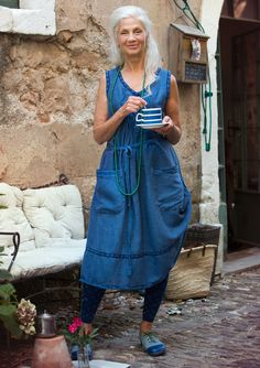 Linen/cotton dress – Gudruns Lucky Day – GUDRUN SJÖDÉN – Webshop, mail order and boutiques | Colourful clothes and home textiles in natural materials.
