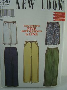 SALE New Look 6030 Sewing Pattern Misses' Skirts by WitsEndDesign, $6.00