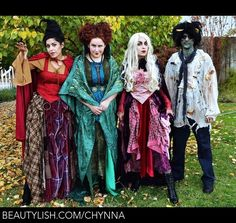 Hocus Pocus Sanderson Sisters Billy Butcherson Halloween Costumes ...