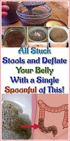 Eliminate All Stuck Stools and Deflate Your Belly With a Single Spoonful of This! Lemon and chia! It is the only thing you will need to prepare this incredible natural remedy to deflate the belly. Herbal Cure, Herbal Remedies, Health Remedies, Natural Remedies, Stomach Remedies, Bloating Remedies, Healthy Drinks, Healthy Tips, Healthy Recipes