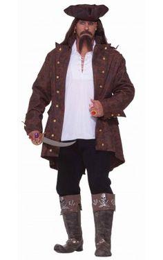 Disfraz de capitán pirata talla extra grande Disfraz Pirata Hombre 25698aa57e7