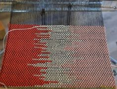 """""""3 and 4 color clasp weft weaving"""" HAH! I knew double clasp weft weaving was a thing!"""
