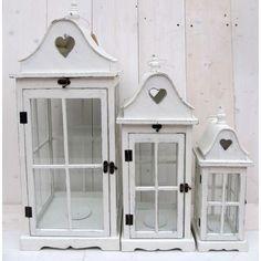 Sada bílých luceren Mirror, Furniture, Home Decor, Decoration Home, Room Decor, Mirrors, Home Furnishings, Arredamento, Interior Decorating