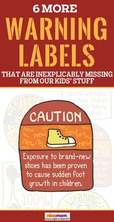 Is buying children's clothes and toys dangerous? YOU HAVE NO IDEA! 6 More Warning Labels That Are Inexplicably Missing From Our Kids' Stuff   More LOLs & Funny Lists for Moms   parenting humor by @RobynHTV on NickMom!