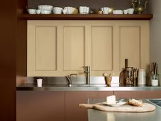 See four interior paint ideas for home decorating trends, interior decor trends and paint colour for walls from the Dulux ColourFutures panel of design experts. Kitchen Cabinet Colors, Kitchen Colors, Kitchen Cabinets, Interior Paint, Kitchen Interior, Interior Decorating, Dining Area, Kitchen Dining, Kitchen Renovation Inspiration