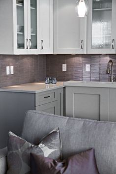 An Example Of The Subtle Use Colour In This Largely Gray Interior Infused With Soft