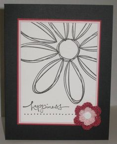 Flower Power by lisalisella - Cards and Paper Crafts at Splitcoaststampers Handmade Card Making, Handmade Cards, Card Crafts, Paper Crafts, Old Stamps, Fun Cards, Stamping Up Cards, Pottery Painting, Flower Power