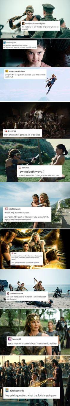 Wonder Woman + text posts