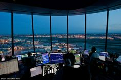 Controllers use coded language to clear aircraft for take-off and landing, as well as monitoring the air traffic movements within 30 miles
