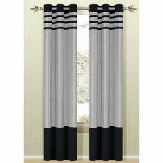 DR International BYG Beyonce Curtain Color: Silver / Black by DR International. $22.99. BYGSB 12 9720 Color: Silver / Black Features: -Heavy faux silk and suede fabric.-Metal grommets.