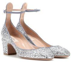 """Pin for Later: Dieser Absatz ist der neue Favorit der Modewelt Valentino Blockheel-Pumps """"Tango"""" aus Glitter (550 €)"""
