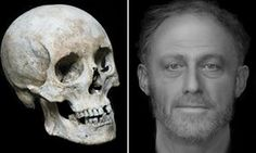 Reconstruction of a 700y old man's face from skull found in a burial site below St John's College, Cambridge