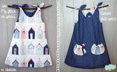 Anímate a hacerlo tú misma a partir de un patrón - Dora Russell - TODOS Sewing Kids Clothes, Sewing For Kids, Baby Sewing, Diy Clothes, Fashion Clothes, Little Dresses, Little Girl Dresses, Toddler Dress, Baby Dress