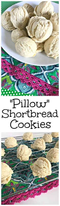 Holiday Pillow Shortbread Cookies - The Cards We Drew Best Shortbread Cookie Recipe, Cookie Recipes, Dessert Recipes, Cookie Ideas, Holiday Baking, Christmas Baking, Christmas Stuff, Christmas Decor, Christmas Holidays