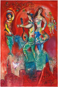 Marc Chagall lute man music art ~Repinned Via mloli alborch