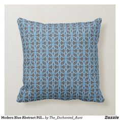Modern Blue Abstract Pillow.  #bluehome #decoratingwithblue #bluedecor #throwpillows #homedecor #pillows #throwpillowsforbed #eleganthomes #pillowpattern