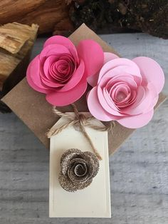Items similar to Favour Boxes with Pink & Gold Flowers on Etsy Double Sided Sticky Tape, Favour Boxes, Gold Flowers, Handmade Wedding, Pink And Gold, Gift Tags, Color Schemes, Favors, Place Cards