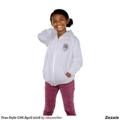 Free Style C66 Girls' American Apparel Flex Fleece Zip Hoodie   #design #fashion #freestyle #girl #hoodiejacket