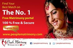 Find your best match on India's No. 1 Free Matrimonial portal
