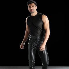 Mens Leather Pants, Black Dagger Brotherhood, Dress Codes, Leather Fashion, Tights, Menswear, Guys, Sexy, How To Wear