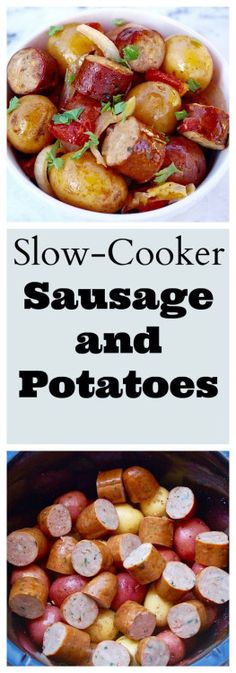 Slow-Cooker Sausage and Potatoes