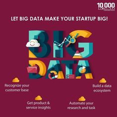 There is tons of data available on internet but which of that matters for your enterprise? This is where Big Data comes into play! With a buffet of features #BigData helps you understand your market products and customers. #success #startup #entrepreneurship #entrepreneur #hustle #iot by nasscomstartups