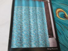 Cameo King Peacock Fabric Shower Curtain x for sale online Black White Shower Curtain, Peacock Fabric, Downstairs Bathroom, Fabric Shower Curtains, Teal, King, Black And White, Home Decor, Decoration Home