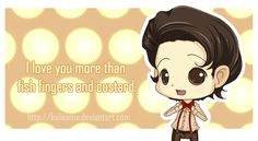 Doctor Who: Fish Fingers and Custard Valentine by Kalisama.deviantart.com on @deviantART