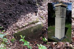 Die Stele, die an 17 sowjetische Zwangsarbeiter der Ilseder Hütte erinnert, galt lange als verschollen, nun wurde sie in Gadenstedt aufgestellt. Quelle: oh