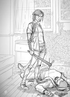 Character Concept, Character Art, Concept Art, Character Design, Illustrations, Illustration Art, Twd Comics, The Last Of Us2, Brown Art