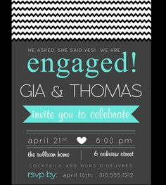 Engagement Party Invitation by EnvyofEvents on Etsy, $15.00    www.EnvyOfEvents.com