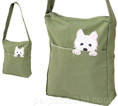 westie shoulder bag $ 20 14 inches tall x 12 inches wide x 3.25 inches deep. Strap hangs 17 inches.