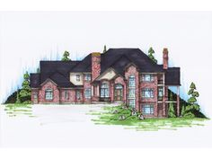 Home Plan HOMEPW76734 is a gorgeous 7038 sq ft, 2 story, 6 bedroom, 4 bathroom plan influenced by New American style architecture.
