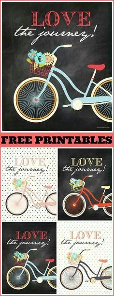 Free bicycle printable
