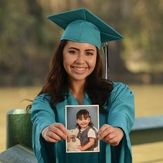 Prepare for your Senior Photography session with a few personal mementos. Pictur… Prepare for your Senior Photography session with a few personal mementos. Pictures from home or old clothing items add a sweet and sentimental touch! Girl Graduation Pictures, Senior Year Pictures, Graduation Picture Poses, College Graduation Pictures, Graduation Portraits, Graduation Photoshoot, Grad Pics, Senior Pics, Senior Posing