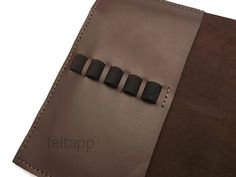 Leather Moleskine Cover Pencil Case iPad Mini Sleeve by feltapp