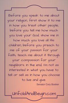My Favorite Cory Booker Quote via @https://www.pinterest.com/JenniferKoshak/
