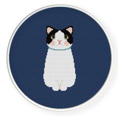 Instant download,free shipping,Cross stitch pattern, Cross-StitchPDF, cute cat,zxxc0051