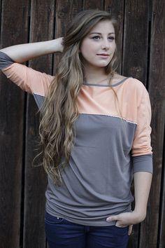 Longsleeve schlamm-pfirsich von NNI-fashion auf DaWanda.com